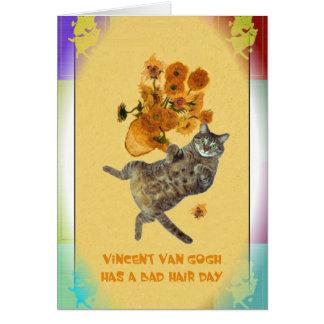 Vincent Van Gogh has a Bad Hair Day Greeting Card
