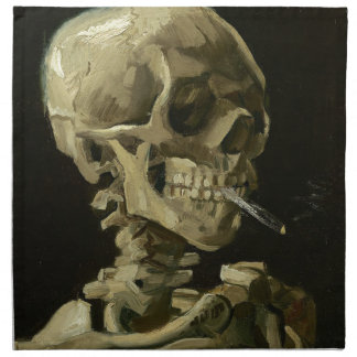 Vincent Van Gogh Head of A Skeleton with Cigarette Napkin