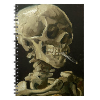 Vincent Van Gogh Head of A Skeleton with Cigarette Notebooks