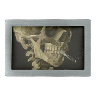 Vincent Van Gogh Head of A Skeleton with Cigarette Rectangular Belt Buckle