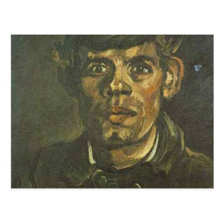 vincent van gogh head of a young peasant in a peak post card
