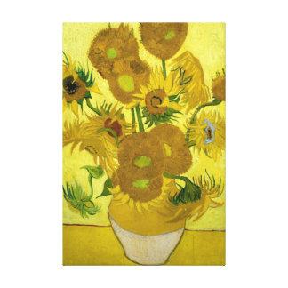 vincent van gogh impressionist sunflower fine art canvas print