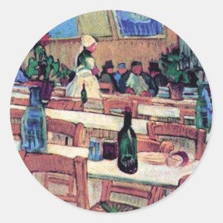Vincent Van Gogh - Interior Of Restaurant Round Sticker