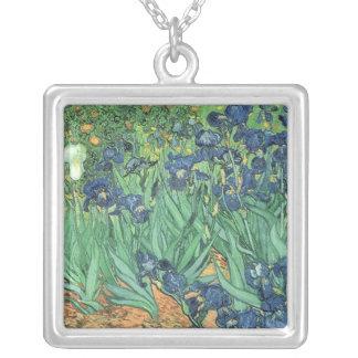 Vincent van Gogh   Irises, 1889 Silver Plated Necklace