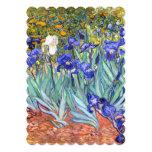 Vincent Van Gogh Irises Floral Vintage Fine Art 13 Cm X 18 Cm Invitation Card