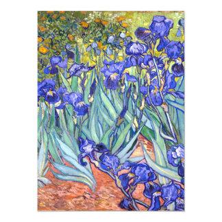 Vincent Van Gogh Irises Floral Vintage Fine Art 14 Cm X 19 Cm Invitation Card