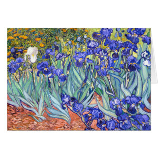 Vincent Van Gogh Irises Floral Vintage Fine Art Stationery Note Card