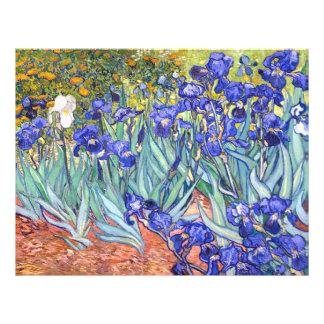 Vincent Van Gogh Irises Floral Vintage Fine Art 21.5 Cm X 28 Cm Flyer