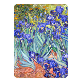 Vincent Van Gogh Irises Floral Vintage Fine Art Custom Invitation Card
