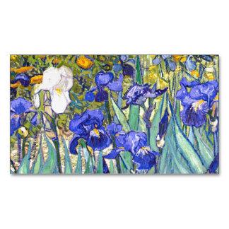 Vincent Van Gogh Irises Floral Vintage Fine Art Magnetic Business Cards (Pack Of 25)