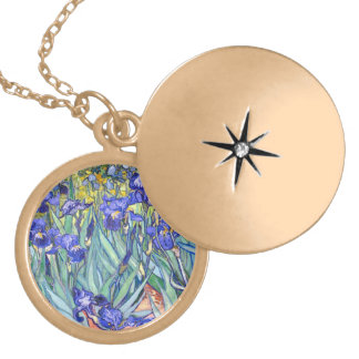 Vincent Van Gogh Irises Floral Vintage Fine Art Necklace