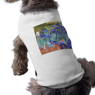 Vincent Van Gogh Irises Floral Vintage Fine Art Sleeveless Dog Shirt