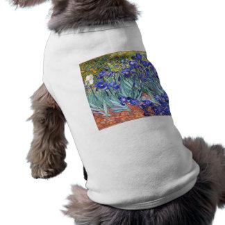 Vincent Van Gogh Irises Floral Vintage Fine Art Sleeveless Dog Shirt