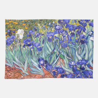 Vincent Van Gogh Irises Floral Vintage Fine Art Tea Towel