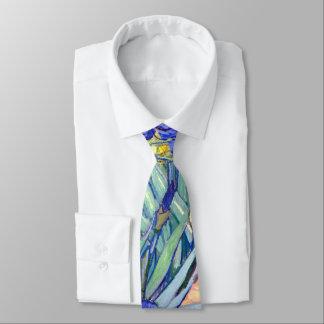 Vincent Van Gogh Irises Floral Vintage Fine Art Tie