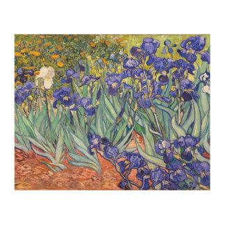 Vincent Van Gogh Irises Floral Vintage Fine Art Wood Canvas