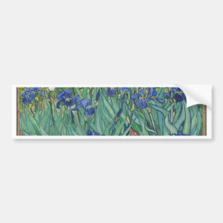 Vincent Van Gogh Irises Painting Flowers Art Work Bumper Sticker