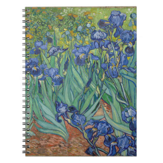 Vincent Van Gogh Irises Painting Flowers Art Work Notebooks