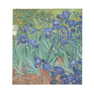 Vincent Van Gogh Irises Painting Flowers Art Work Notepad