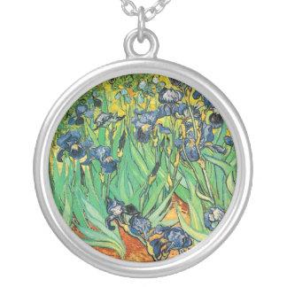 Vincent van Gogh,Irises Silver Plated Necklace