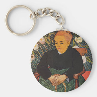 Vincent Van Gogh - Kind Old Lady Portrait Key Ring
