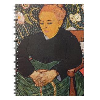 Vincent Van Gogh - Kind Old Lady Portrait Spiral Notebook