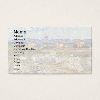 Vincent Van Gogh - La Crau With Peach Trees Business Card