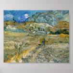 Vincent van Gogh Landscape at Saint-Rémy Poster