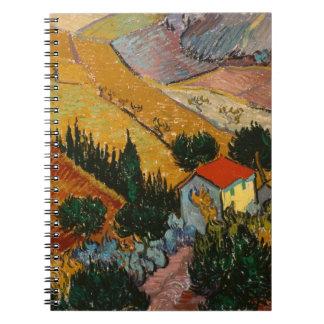Vincent van Gogh   Landscape w/ House & Ploughman Spiral Note Book