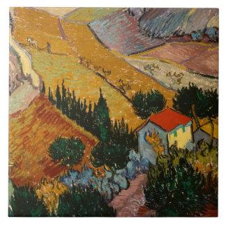 Vincent van Gogh | Landscape w/ House & Ploughman Tile