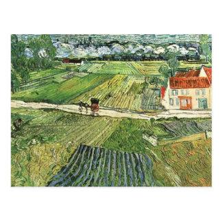 Vincent van Gogh Landscape with a Carriage Postcard