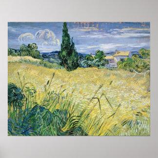 Vincent van Gogh | Landscape with Green Corn, 1889 Poster