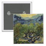 Vincent van Gogh - Landscape with Olive Trees Badges