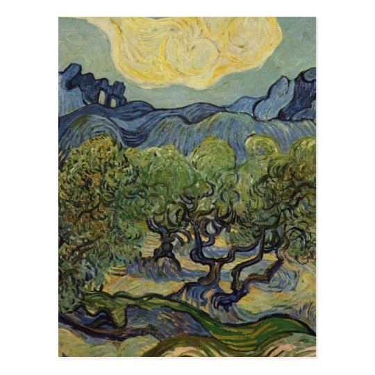 Vincent van Gogh - Landscape with Olive Trees Postcard