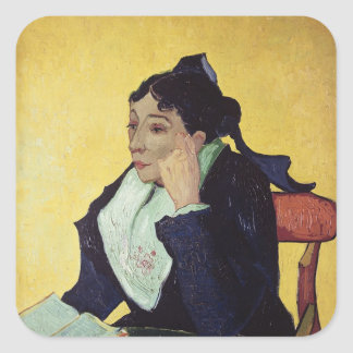 Vincent van Gogh | L'Arlesienne  1888 Square Sticker