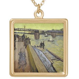 Vincent van Gogh   Le Pont de Trinquetaille Arles Gold Plated Necklace