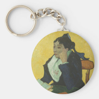 Vincent Van Gogh - Madame Ginoux with Books Key Ring