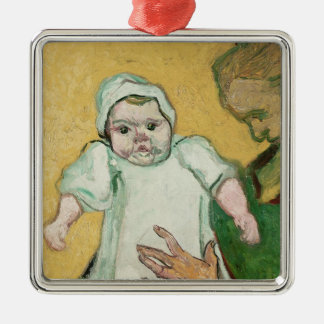 Vincent van Gogh | Madame Roulin and her baby Silver-Colored Square Decoration