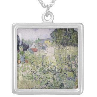 Vincent van Gogh   Mademoiselle Gachet in garden Silver Plated Necklace
