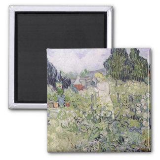 Vincent van Gogh | Mademoiselle Gachet in garden Square Magnet