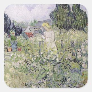 Vincent van Gogh | Mademoiselle Gachet in garden Square Sticker