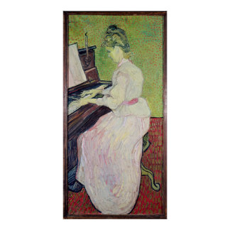 Vincent van Gogh | Marguerite Gachet at the Piano Poster
