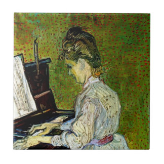 Vincent Van Gogh - Marguerite Gachet At The Piano Small Square Tile