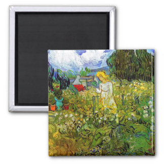 Vincent Van Gogh - Marguerite Gachet In The Garden Square Magnet
