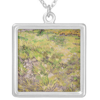 Vincent van Gogh | Meadow with Butterflies, 1890 Silver Plated Necklace