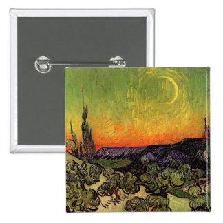 Vincent Van Gogh Moonlit Landscape 15 Cm Square Badge