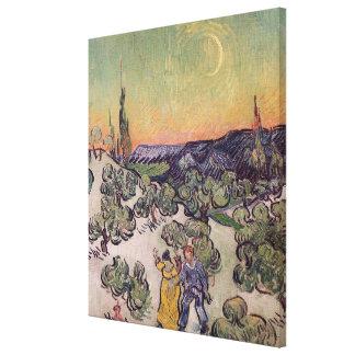 Vincent van Gogh   Moonlit Landscape, 1889 Canvas Print
