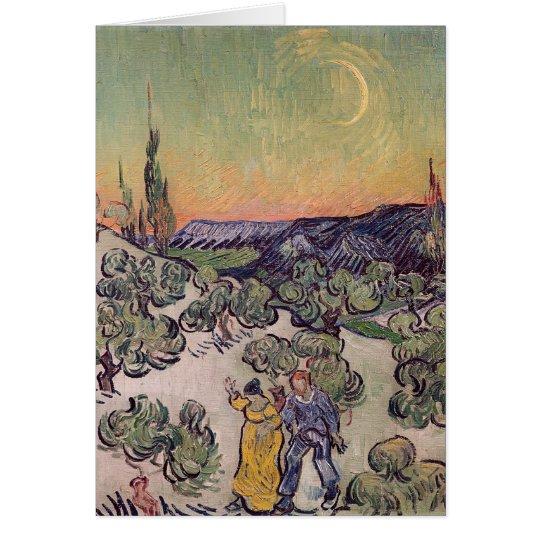 Vincent van Gogh   Moonlit Landscape, 1889 Card