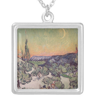 Vincent van Gogh   Moonlit Landscape, 1889 Silver Plated Necklace