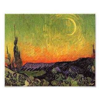 Vincent Van Gogh Moonlit Landscape Art Photo